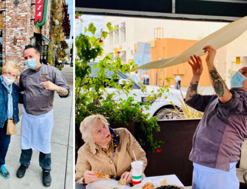 Heritage Downtown Resident Celebrates 95th Birthday with World Pizza Champion Tony Gemignani