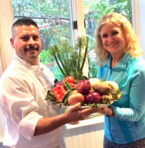 Doctor and Chef working together to promote healthy eating at The Heritage Downtown