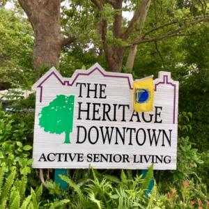 An image of The Heritage Downtown sign